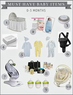 High Street Market: My Picks for Must Have Baby Items { 0-3 months }