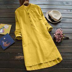 Picture 2 of 15 Plus Size Shirts, Plus Size Blouses, Denim T Shirt, Long Tunic Tops, Mini Shirt Dress, Mode Hijab, E Bay, Casual Tops, Fashion 2020