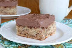 Torta de banana con mousse de chocolate