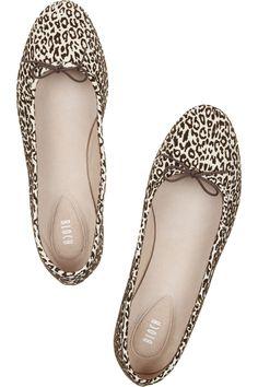 Bloch|Leopard velvet-flocked suede ballet flats|NET-A-PORTER.COM