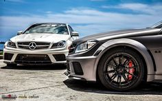 Mercedes-Benz C63 AMG Black Series Trio by Mode Carbon #mbhess #mbcars #mbtuning #ModeGarbon