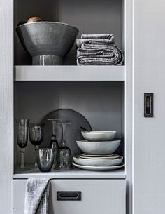 Shelving Systems, Storage Solutions, Plank, Shelves, Tableware, Kitchen, House, Design, Home Decor