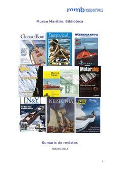 Sumaris de revistes. Octubre 2012 Classic Boat, Europa azul, Ingeniería naval, Motorship, Marine News ...