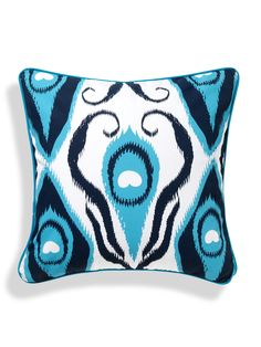 Ikat Blue Pillow - Gilt Home