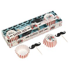 Barber Shop Moustache Baking Set   DotComGiftShop