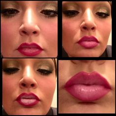 Perfectly Pink Ombré Lips without doing the silly Kylie Jennar lip challenge.  That's crazy!! Use Younique lip products.