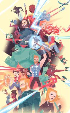 Marvel Drawing pixalry: Infinity War - Created by Jackie Droujko Prints. Marvel Dc, Marvel Memes, Marvel Logo, Marvel Universe, Mundo Comic, Marvel Wallpaper, Film Serie, Avengers Infinity War, Drawings