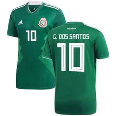 82f63647088 Giovani dos Santos Mexico National Team adidas 2018 Home Replica Jersey -  Green