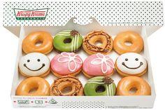 Krispy Kreme Doughnuts w/ smile ♡♡♡