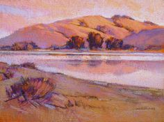 Duane-Wakeham-Summer-Evening-Russian-River-Study-pastel-9-x-12-in.jpg 3,000×2,226 pixels