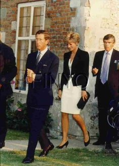 Charles and Diana ~ Hey! Charles~ your cuffs are fine, but you've forgotten(again) that you have a wife who is the most beautiful woman in the world.
