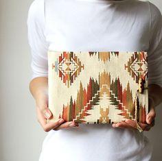 Ikat iPad 1 2 3 4 new sleeve - iPad case - Tribal - Earth colors - Natural materials - Gobelin fabric - Aztec