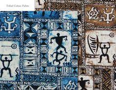 Tapa Fabric, Petroglyphs Tribal Tattoo, Hawaiian Fabric, Cotton. Check it out at HawaiianFabricNBYond.Etsy.com  Aloha :)