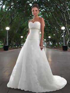 bfb30f0785 A-Line Gown with Strapless Sweetheart Neckline Wedding Dresses   v00211u1w1540  -  164.99