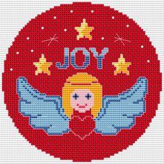 Angel with a heart free cross stitch pattern