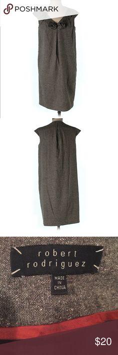 "Robert Rodriguez Wool Dress Wool dress by Robert Rodriguez. Shift/sheath silhouette. 36"" chest and 36"" long. Super P, fits a size small/medium. Minor pilling. 55% wool, 15% silk, 15% polyester, 13% viscose, and 2% elastane. Robert Rodriguez Dresses"