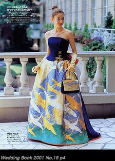 着物ドレスのローブドキモノ|カラードレス・プリンセスライン
