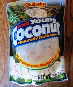 If you like coconut, you will love this dried coconut chips by Philippine brand!