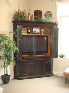 Corner Entertainment Center for Flat Screen TV
