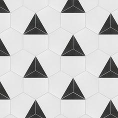 Merola Tile Peak Hex Nero Encaustic in. Porcelain Floor and Wall Tile sq. / case)-FCDPKNX - The Home Depot Mosaic Tiles, Wall Tiles, Tiling, Shower Floor, Tile Floor, 2nd Floor, Artistic Tile, Bathroom Flooring, Basement Bathroom