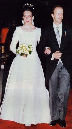 Archiduque Simeón de Habsburgo & Princesa Maria de la Paloma Borbón dos Sicilias. 13 06. 1996