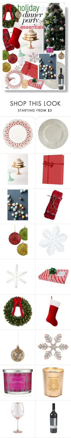 """Holiday Party Dinner Party Inspo"" by maggiesinthemoon ❤ liked on Polyvore featuring interior, interiors, interior design, home, home decor, interior decorating, Ballard Designs, Jay Import, Anthropologie and Shishi"