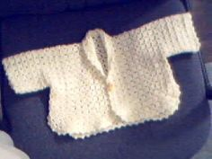Easy Baby Sweater | AllFreeCrochet.com