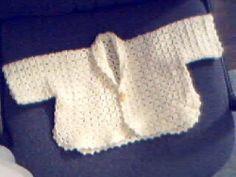 Easy Baby Sweater | AllFreeCrochet.com