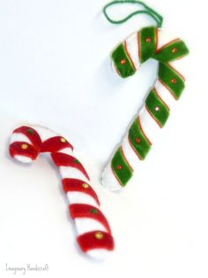 Felt ornament, Peppermint Candy Cane, Christmas ornament, Tree decoration https://www.etsy.com/listing/118818575/felt-ornament-peppermint-candy-cane?ref=shop_home_active_1