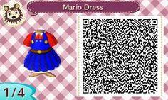 Animal Crossing: New Leaf - Mario dress QR-code