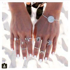 """Boho Jewelry Obsession ✨ #bohoinspired #boholove #boholiving #beach #gypsylove #gypsystyle #gypsyliving #gypsyfashion #peaceandlove #jewelry #rings…"""