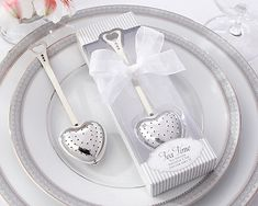 Heart Tea Infuser Favors - Tea Party Shower Favors - coupon code is freeshipping