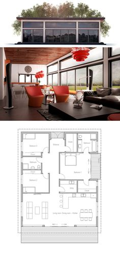 Bedrooms:3 Bathrooms:2 Floors:1 Cost to Build:from $ 135 000