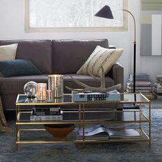 "Terrace Coffee Table | West Elm 47.5""w x 20""d x 17.4""h."