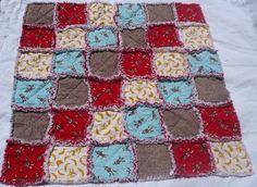 sock monkey rag quilt