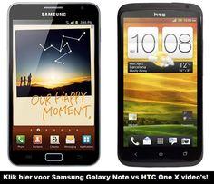 Samsung Galaxy Note versus HTC One X
