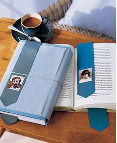 8 easy DIY Father's Day gifts: handmade bookmark with photo #diy #crafty