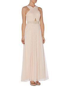 Cross Front Cut Out Maxi Dress Bridesmaid Dresses Ukmaxi Dresseswedding Guest