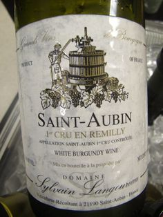 Saint Aubin White Burgundy Wine of France White Burgundy Wine, White Wine, Pinot Noir Grapes, Famous Wines, Dry Red Wine, Water Into Wine, Wine Collection, Wine Cheese, Wine Time