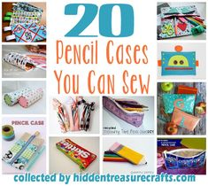 20 Pencil Cases to Sew - Sew your favorite students some colorful cases to hold all of their pend and pencils. (http://hiddentreasurecrafts.com/20-pencil-cases-to-sew/)