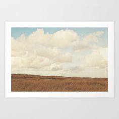 Clouds over the Field Art Print by Kurt Rahn - $16.00