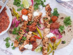 This Muslim Girl Bakes: Turkish Chicken Kebabs with Tomato Chilli Sauce.