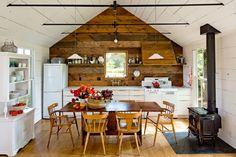 Diseño del comedor y la cocina se ve perfecto