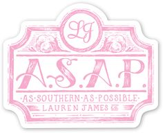 ASAP Sticker from Lauren James Co.