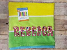 Elaine used our Crackers Applique to monogram this towel