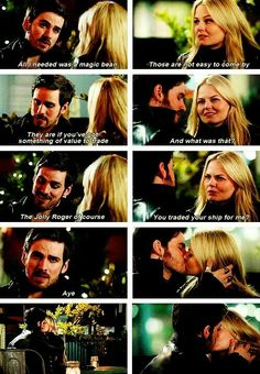 Once Upon A Time Hook and Emma. Finally got together