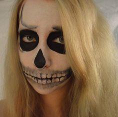 Skeleton makeup 1 #skeleton #skull #makeup #facepaint #skeltonmakeup #alevel #artstudent Skeleton Makeup, Art Photography, Halloween Face Makeup, Skull, Make Up, Fine Art Photography, Makeup, Beauty Makeup, Artistic Photography