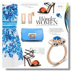 """""""Dafina Jewelry"""" by sans-moderation ❤ liked on Polyvore featuring Karen Millen, Gianvito Rossi, Fendi and NARS Cosmetics"""