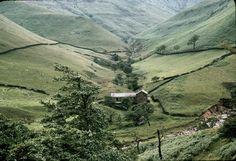 A Sheep Farm in the Peak District. Photograph 1964 by George P. Landow.