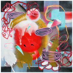 """CHERRY, 2012, Fiona Ackerman, mixed media, 14"""" x 14"""""""